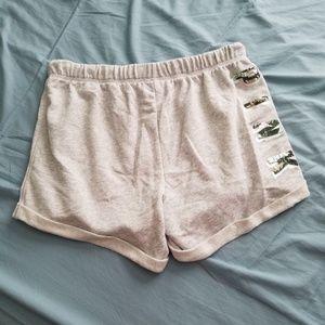 PINK Camo Bling Boyfriend Shorts